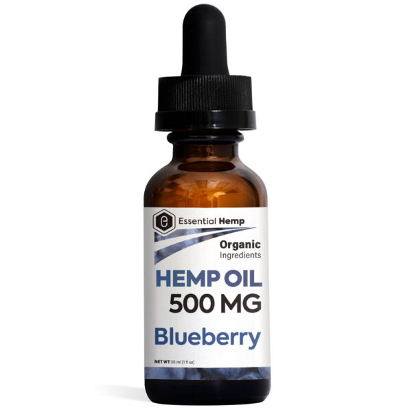 Essential Hemp - Blueberry Hemp Oil Tincture 500mg Bottle