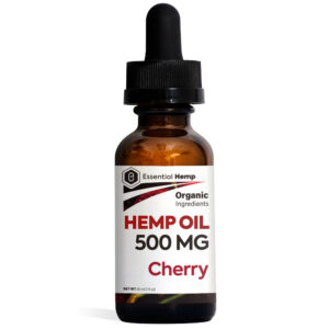 Essential Hemp - Cherry Hemp Oil Tincture 500mg Bottle