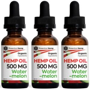 Essential Hemp - 500mg Watermelon Tincture Pack