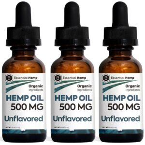 Essential Hemp - 500mg Unflavored Tincture Pack