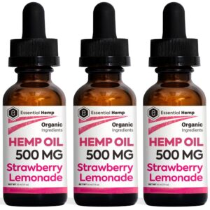 Essential Hemp - 500mg Strawberry Lemonade Tincture Pack