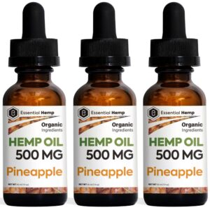 Essential Hemp - 500mg Pineapple Tincture Pack