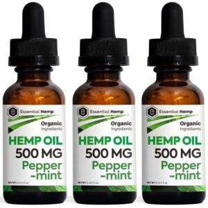 Essential Hemp - 500mg Peppermint Tincture Pack