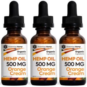 Essential Hemp - 500mg Orange Cream Tincture Pack
