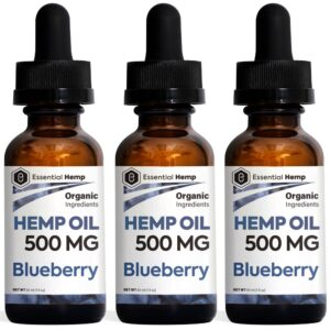 Essential Hemp - 500mg Blueberry Tincture Pack