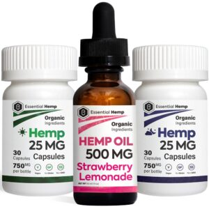 EHMP - Strawberry Lemonade 500 Tincture_Capsules Pack