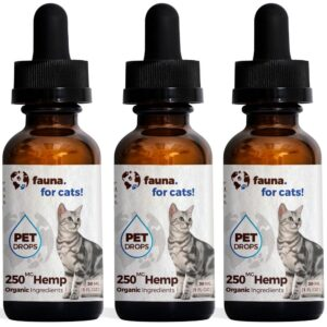 Fauna Pet Hemp - Cat Pet Drops 3 Bottle Pack