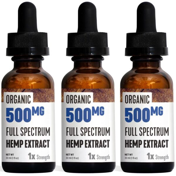Essential Organic Hemp 500mg Bottle 3 Pack