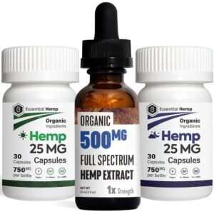 EHMP - Hemp Oil 500 Tincture_Capsules Pack